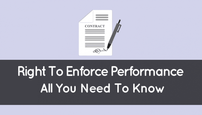 Right To Enforce Performance In Quebec (Contract Guide)